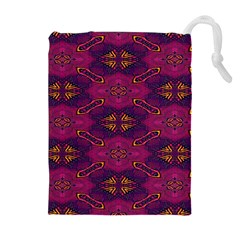 Pattern Decoration Art Abstract Drawstring Pouches (extra Large)