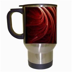 Abstract Fractal Digital Art Travel Mugs (white)