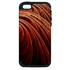 Abstract Fractal Digital Art Apple Iphone 5 Hardshell Case (pc+silicone)