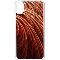 Abstract Fractal Digital Art Apple Iphone X Seamless Case (white)