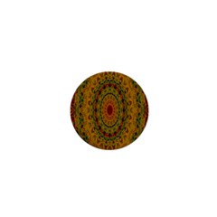India Mystic Background Ornamental 1  Mini Buttons