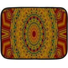 India Mystic Background Ornamental Double Sided Fleece Blanket (mini)