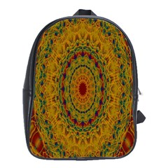 India Mystic Background Ornamental School Bag (large)
