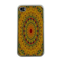 India Mystic Background Ornamental Apple Iphone 4 Case (clear)