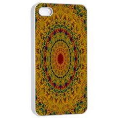India Mystic Background Ornamental Apple Iphone 4/4s Seamless Case (white)