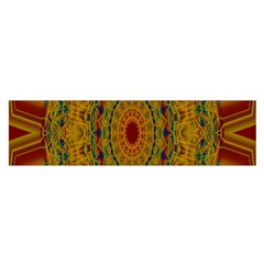 India Mystic Background Ornamental Satin Scarf (oblong)