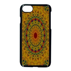 India Mystic Background Ornamental Apple Iphone 7 Seamless Case (black)