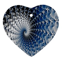 Mandelbrot Fractal Abstract Ice Ornament (heart)