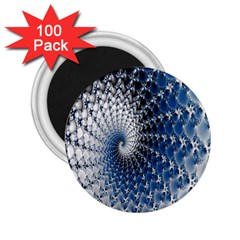 Mandelbrot Fractal Abstract Ice 2 25  Magnets (100 Pack)