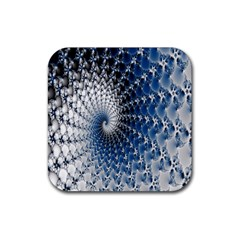 Mandelbrot Fractal Abstract Ice Rubber Coaster (square)