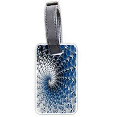 Mandelbrot Fractal Abstract Ice Luggage Tags (two Sides)