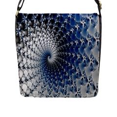 Mandelbrot Fractal Abstract Ice Flap Messenger Bag (l)