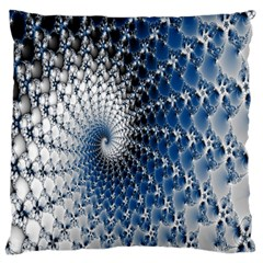 Mandelbrot Fractal Abstract Ice Standard Flano Cushion Case (one Side)
