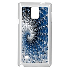 Mandelbrot Fractal Abstract Ice Samsung Galaxy Note 4 Case (white)