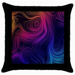 Abstract Pattern Art Wallpaper Throw Pillow Case (black)