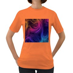 Abstract Pattern Art Wallpaper Women s Dark T Shirt