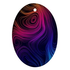 Abstract Pattern Art Wallpaper Oval Ornament (two Sides)