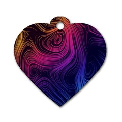 Abstract Pattern Art Wallpaper Dog Tag Heart (two Sides)