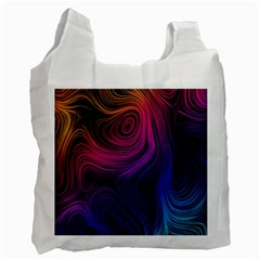 Abstract Pattern Art Wallpaper Recycle Bag (two Side)