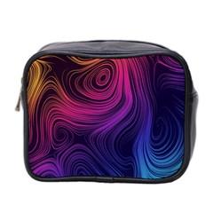 Abstract Pattern Art Wallpaper Mini Toiletries Bag 2 Side