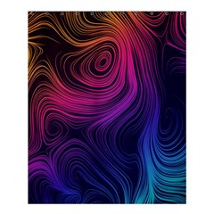 Abstract Pattern Art Wallpaper Shower Curtain 60  X 72  (medium)
