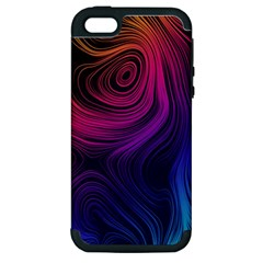 Abstract Pattern Art Wallpaper Apple Iphone 5 Hardshell Case (pc+silicone)