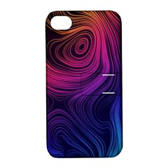 Abstract Pattern Art Wallpaper Apple Iphone 4/4s Hardshell Case With Stand