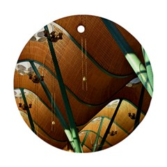 Airport Pattern Shape Abstract Ornament (round)