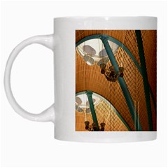 Airport Pattern Shape Abstract White Mugs