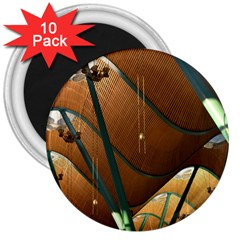 Airport Pattern Shape Abstract 3  Magnets (10 Pack)