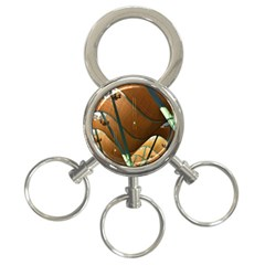 Airport Pattern Shape Abstract 3 Ring Key Chains