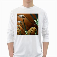 Airport Pattern Shape Abstract White Long Sleeve T Shirts