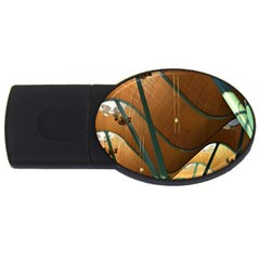 Airport Pattern Shape Abstract Usb Flash Drive Oval (4 Gb)