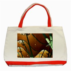 Airport Pattern Shape Abstract Classic Tote Bag (red)