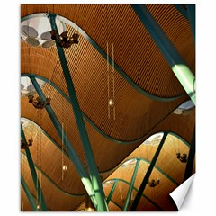 Airport Pattern Shape Abstract Canvas 8  X 10