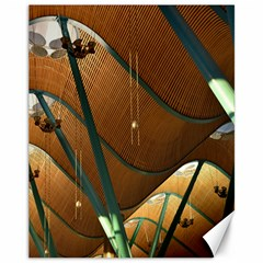 Airport Pattern Shape Abstract Canvas 11  X 14