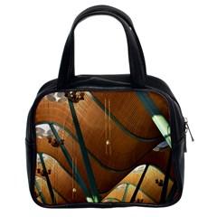 Airport Pattern Shape Abstract Classic Handbags (2 Sides)