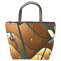 Airport Pattern Shape Abstract Bucket Bags