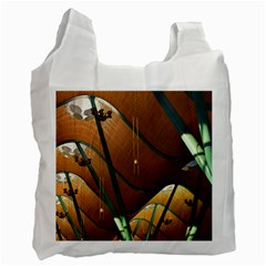 Airport Pattern Shape Abstract Recycle Bag (two Side)