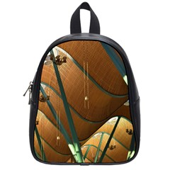 Airport Pattern Shape Abstract School Bag (small)