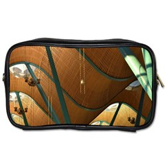 Airport Pattern Shape Abstract Toiletries Bags