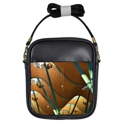 Airport Pattern Shape Abstract Girls Sling Bags