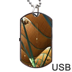 Airport Pattern Shape Abstract Dog Tag Usb Flash (one Side)