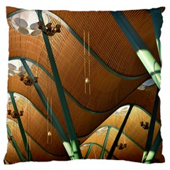 Airport Pattern Shape Abstract Large Cushion Case (one Side)