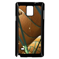 Airport Pattern Shape Abstract Samsung Galaxy Note 4 Case (black)