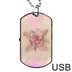 Desktop Background Abstract Dog Tag Usb Flash (two Sides)