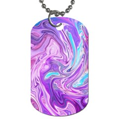 Abstract Art Texture Form Pattern Dog Tag (one Side)