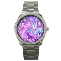Abstract Art Texture Form Pattern Sport Metal Watch