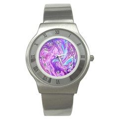 Abstract Art Texture Form Pattern Stainless Steel Watch