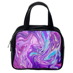 Abstract Art Texture Form Pattern Classic Handbags (one Side)